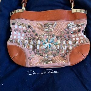 Oscar De La Renta beaded purse